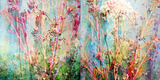 Wild Grasses Layered with Flower Colors Fotografisk tryk af Alaya Gadeh