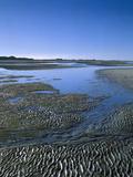 Meer, Ebbe, Watt, Rippelmarken, Gezeiten, Sand, Landschaft Photographic Print by  Thonig