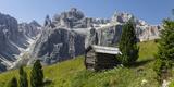 Alpine Hut, Sella Behind, Dolomites, South Tyrol, Italy, Europe Photographic Print by Gerhard Wild
