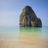 Rock at the Phra Nang Beach, Ao Nang, Krabi, Thailand Photographic Print by Rainer Mirau