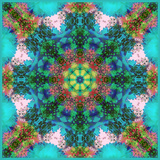 A Symmetric Ornament from Flowers, Photograph, Layer Work Photographic Print by Alaya Gadeh