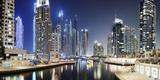 Modern High Rises, Dubai Marina at Night, Dubai, United Arab Emirates Photographic Print by Axel Schmies
