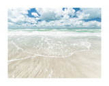 Sky, Surf, and Sand Print by Mary Lou Johnson