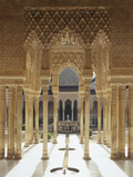 Spain, Andalusia, Granada, Alhambra, Lion's Court Photographic Print by  Thonig