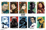 Star Wars: Rogue One- Character Grid Pôsters