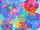 Colorful Photographic Layer Work of Blossoms Photographic Print by Alaya Gadeh