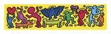 Keith Haring - Untitled, 1987 Digitálně vytištěná reprodukce