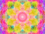 A Mandala Ornament from Flowers, Photograph, Many Layer Artwork Photographic Print by Alaya Gadeh