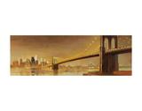 Pont de Brooklyn, New York Affiche par Paulo Romero
