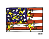 American Music Festival - New York City Ballet, 1988 Poster by Keith Haring