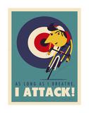 Attack Affiche par Spencer Wilson