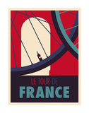 Tour de France Kunst af Spencer Wilson