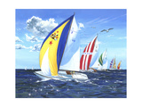 Final Dash Premium Giclee Print by Scott Westmoreland