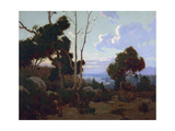 Sunset Hope Ranch Prints by Elmer Wachtel