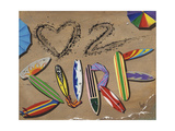 Love to Surf Poster by Scott Westmoreland