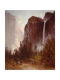 Bridalveil Falls Premium Giclee Print by Thomas Hill