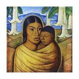 Madre Con Ibida Poster by Alfredo Ramos Martinez