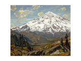 Majestic Winter Landscape Premium Giclee Print by William Wendt
