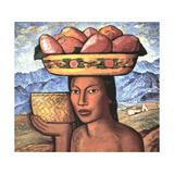 Vendedoras De Tunas Láminas por Alfredo Ramos Martinez