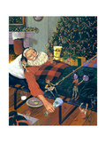 Snoozing Santa Prints by Scott Westmoreland