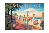 Greetings from Miami Beach Prints by Kerne Erickson