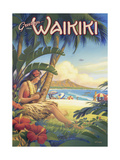 Greetings from Waikiki Premium Giclee Print by Kerne Erickson