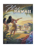 Kerne Erickson - Fly to Hawaii - Poster