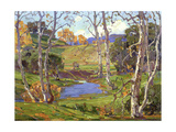 Sycamores Print by William Wendt