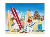 K-9 Surf Club Prints by Scott Westmoreland