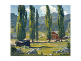 The Red Barn Prints by William Wendt