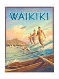 Surfride Waikiki Prints by Kerne Erickson