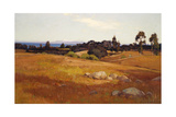Near Santa Barbara Print by William Wendt