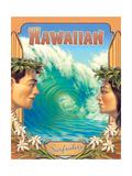 Kerne Erickson - Hawaiian Surfers - Art Print