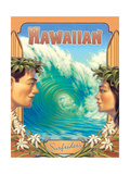 Hawaiian Surfers Art by Kerne Erickson