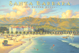 Kerne Erickson - Potter Hotel Santa Barbara - Art Print