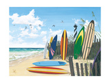Surf Boards Premium Giclee Print by Scott Westmoreland