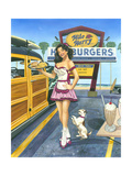 Car Hop Cutie Posters by Scott Westmoreland