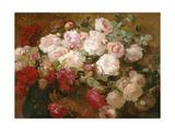 Roses Premium Giclee Print by Franz Bischoff