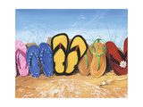 Flip Flop Fence Poster by Scott Westmoreland