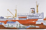 CCGS Louis S St-Laurent Icebreaker, 1988, Canada, Cutaway Drawing Photographic Print by De Agostini Picture Library