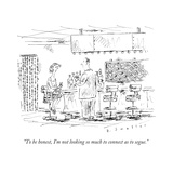 """To be honest, I'm not looking so much to connect as to segue."" - New Yorker Cartoon Premium Giclee Print by Barbara Smaller"