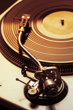 Old Fashioned Turntable Playing A Track Photographic Print by  jaycriss