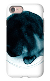 Large Ink Spot with Paint Texture Isolated on White Background. Saturated Turquoise Color. Hand Dra iPhone 7 Case by Anna Kutukova