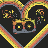Love Disco, Love Retro. Vintage Poster Design Template. Raster Version, Vector File Available in Po Photographic Print by  pashabo