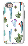 Watercolor Cactus Pattern iPhone 7 Case by  Zenina