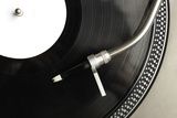 Top View of Old Fashioned Turntable Photographic Print by  jaycriss
