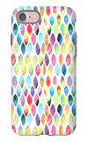 Seamless Pattern of Paint Splash Watercolor Drops iPhone 7 Case by Jane Lane