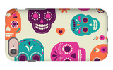 Colorful Skull Cute Pattern, Mexican Day of the Dead iPhone 7 Case by  Marish