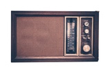 Vintage Radio Isolated Reproduction photographique par  duallogic