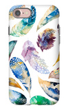 Hand Drawn Watercolor Feather Set. Iillustration Isolated on Whi iPhone 7 Case by  Kris_art